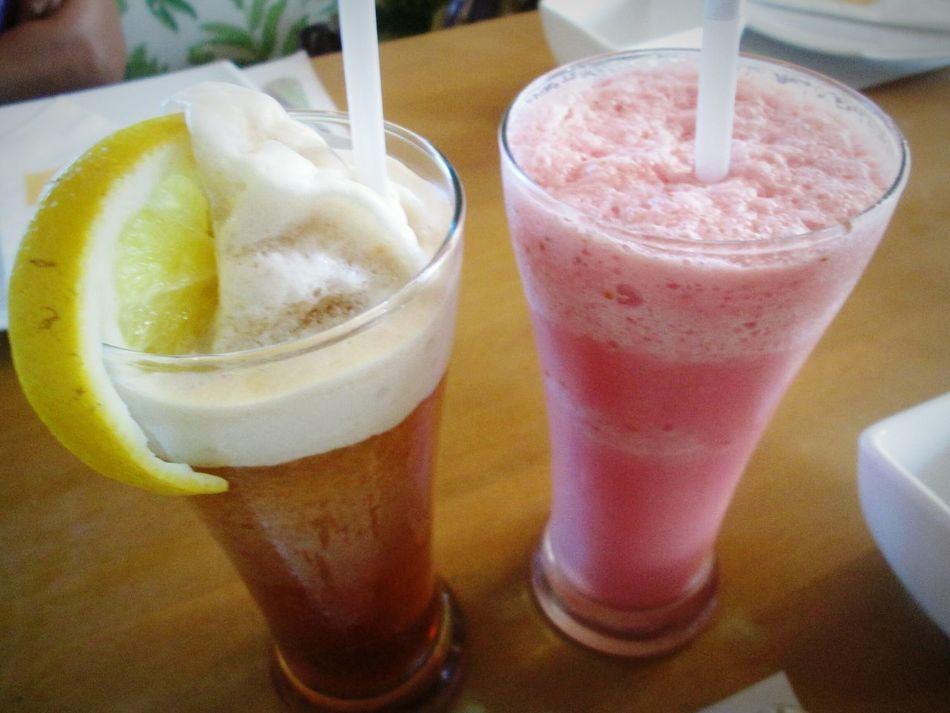 Drink Freshness Refreshment Strawberry Shake  Iced Tea Lemon Shake Dessert Frozen Dessert Summer Cooler