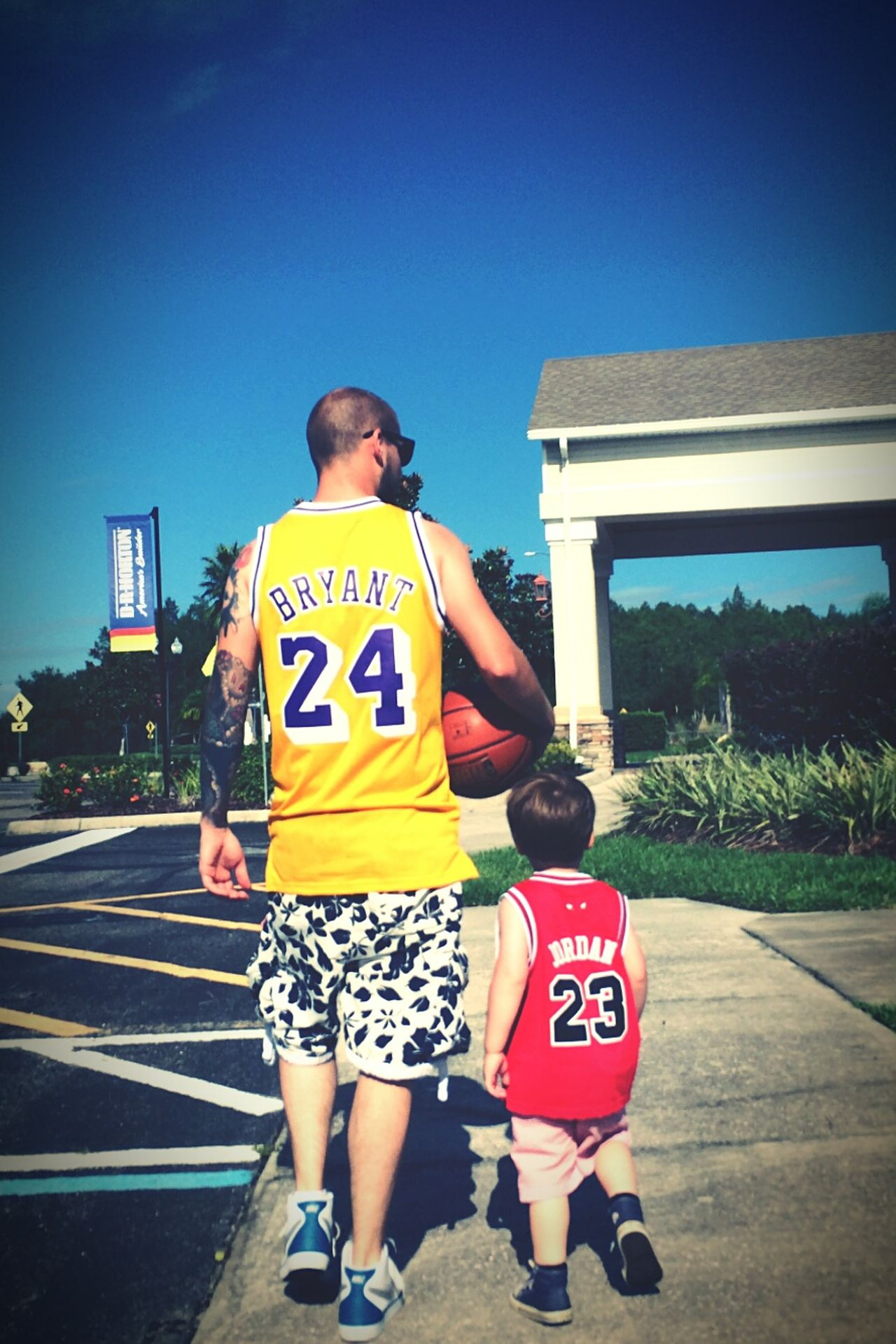 NBA Ballers Fatherandson Florida Kissimmee Boys Innocence First Eyeem Photo