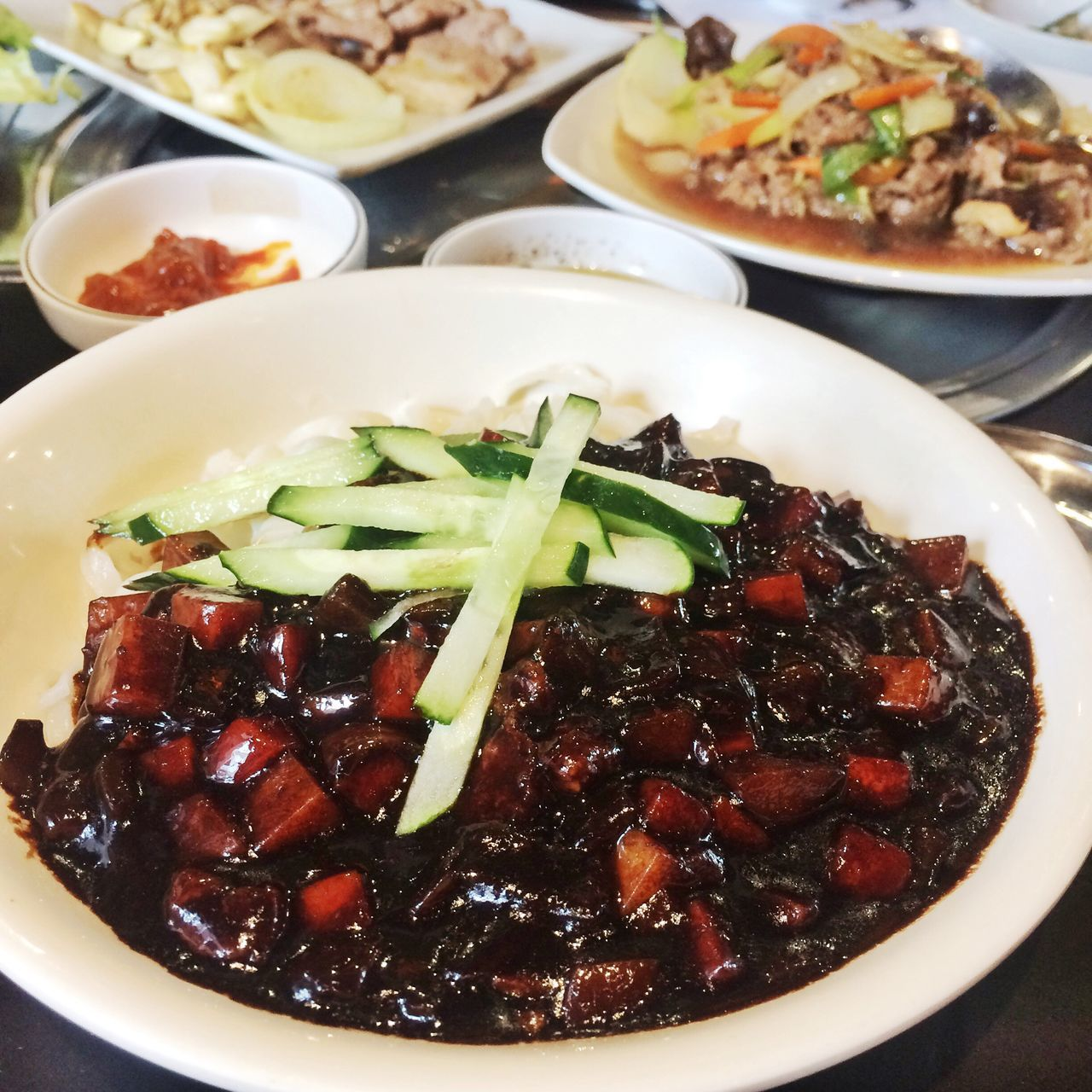 Food Korean Food Koreanfood KoreanFoods Jajjangmyeon Jajangmyeon Jajangmyun Food Photography Foodphotography Food Photos Food Photogrphy Noodles Noodle BlackbeanNoodles Blackbean Noodles Korean Restaurant Korean Foods Korean Noodles