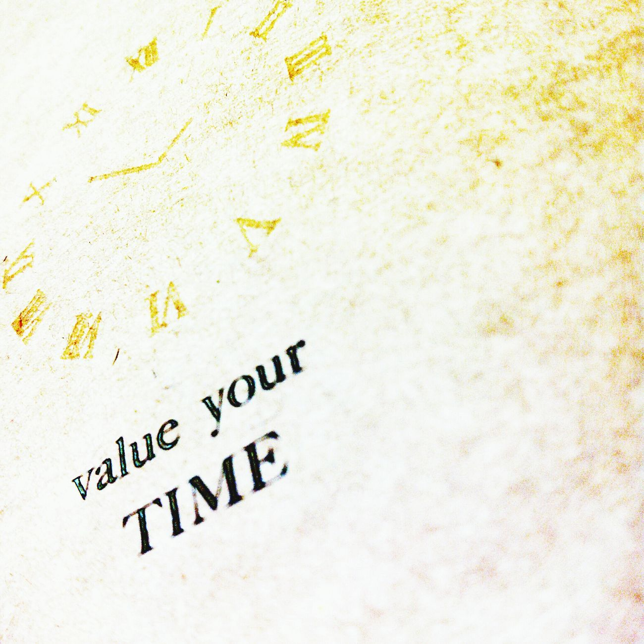 This is all you have to do , Value Your Time