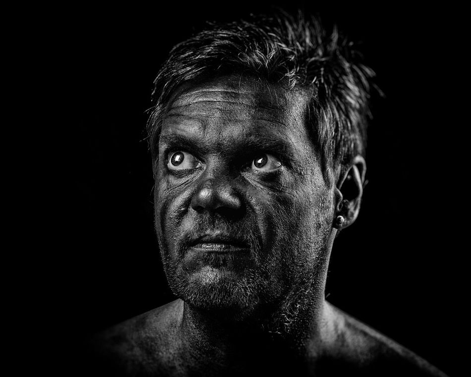 EyeEmNewHere My black face... Self Portrait Around The World EyeEm Diversity Painting Face Selfportrait Warrior Monochrome Dark Portrait Portrait Portrait Photography Human Face Eyeem Photography Black And White Portraits