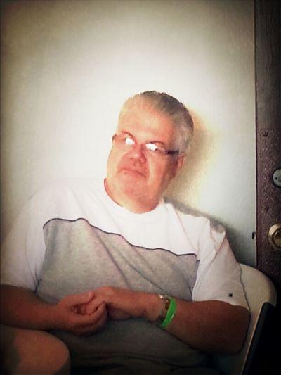 Dad Chilling In Men's Retreat