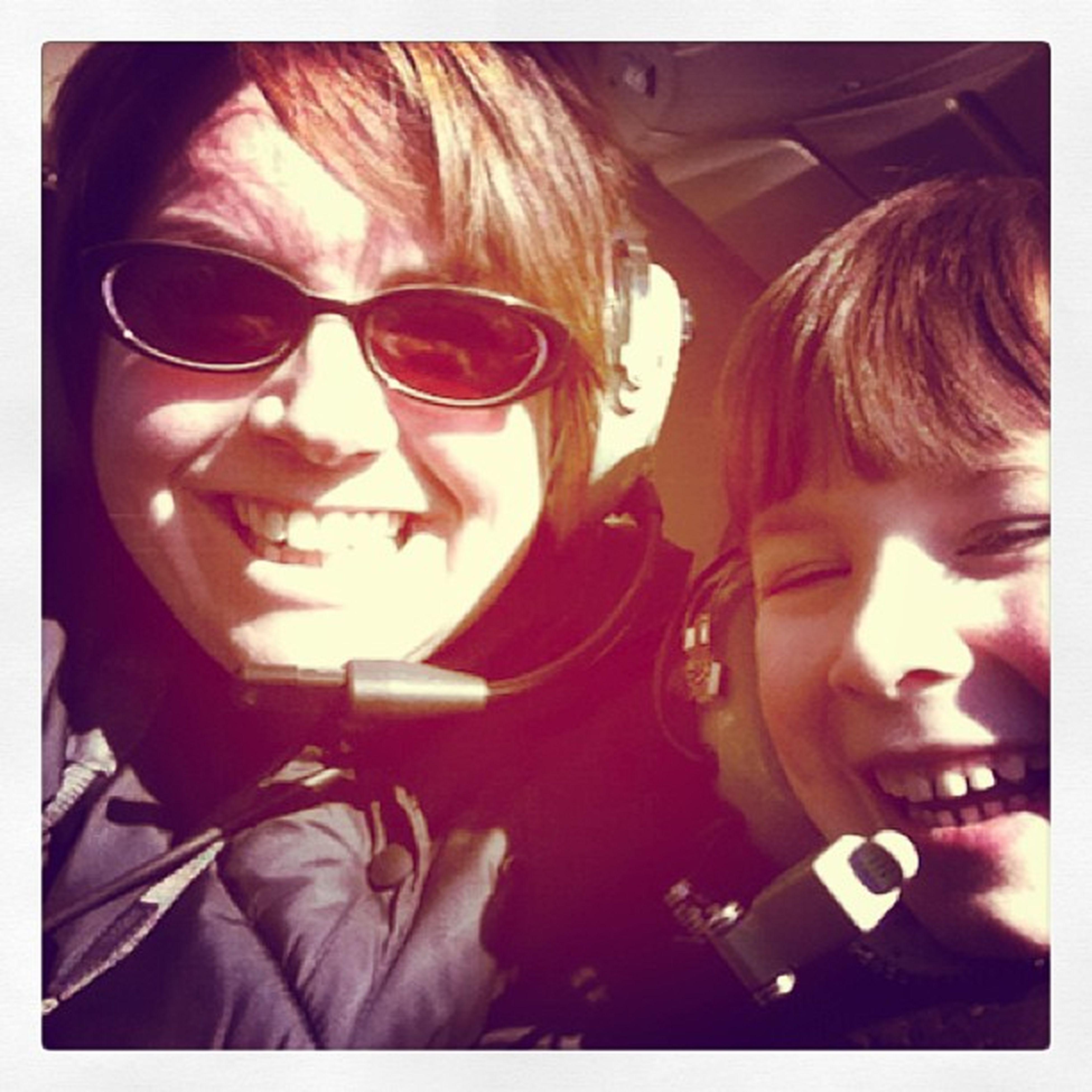 Mom & G ready for take off #skywagons #newyearplaneride Newyearplaneride Skywagons