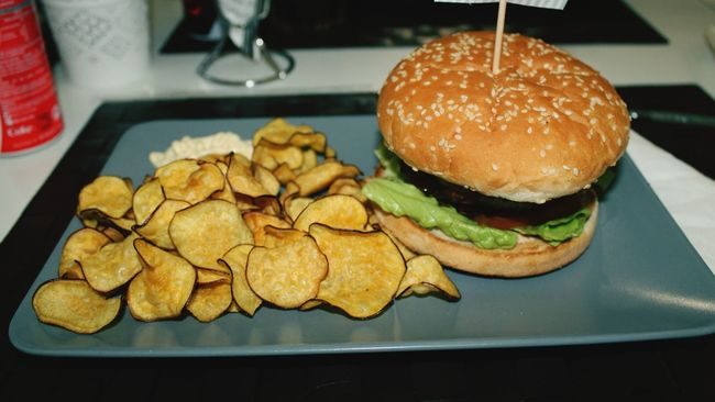 Portrait Of America Burger Dinner Fries Food Photography Yummy