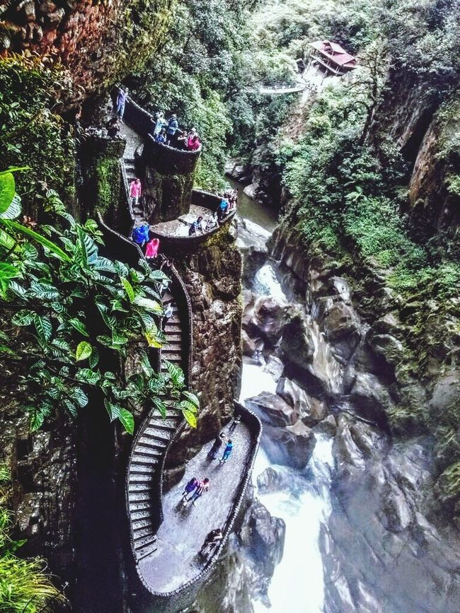 Baños -Ecuador Pailondeldiablo Cascadas