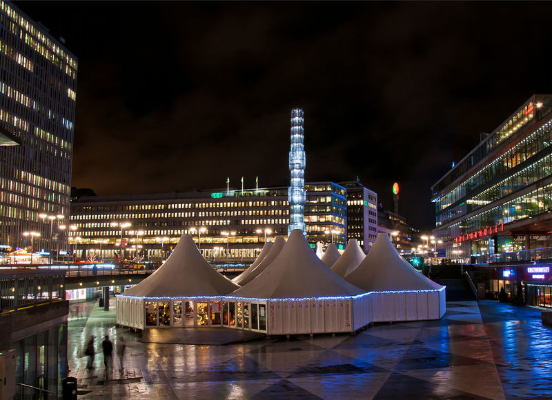 Sergels torg in winter Architecture Building Exterior Built Structure Center Christmas City Citycenter Cityscape Fair Illuminated Modern Night Nightlife Nightphotography No People Office Building Exterior Outdoors Public Square Rain Scandinavia Sergels Torg Sky Stockholm Sweden Travel Destinations