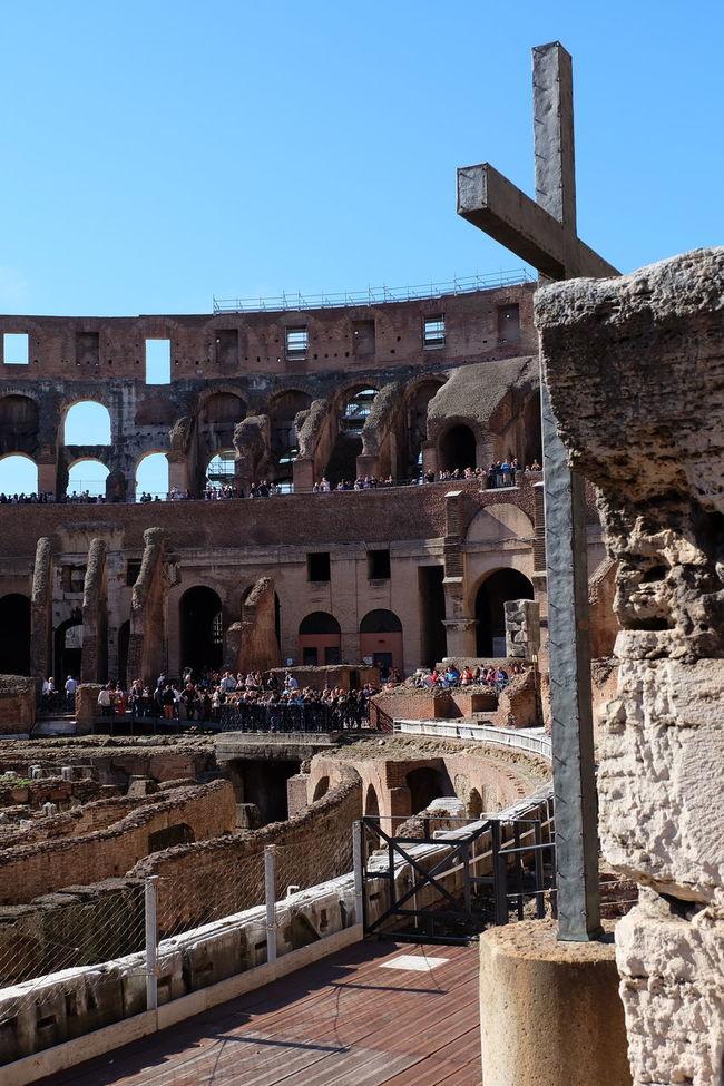 Ancient Roman Ancient Rome Battle Ground Colleseum Cross History Piazza Del Colosseo Roman Architecture Travel Destinations