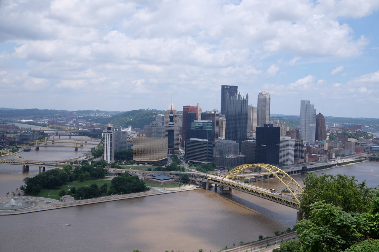City City Of Bridges Downtown Pittsburgh Fort Duquesne Bridge Fort Pitt Bridge Pittsburgh