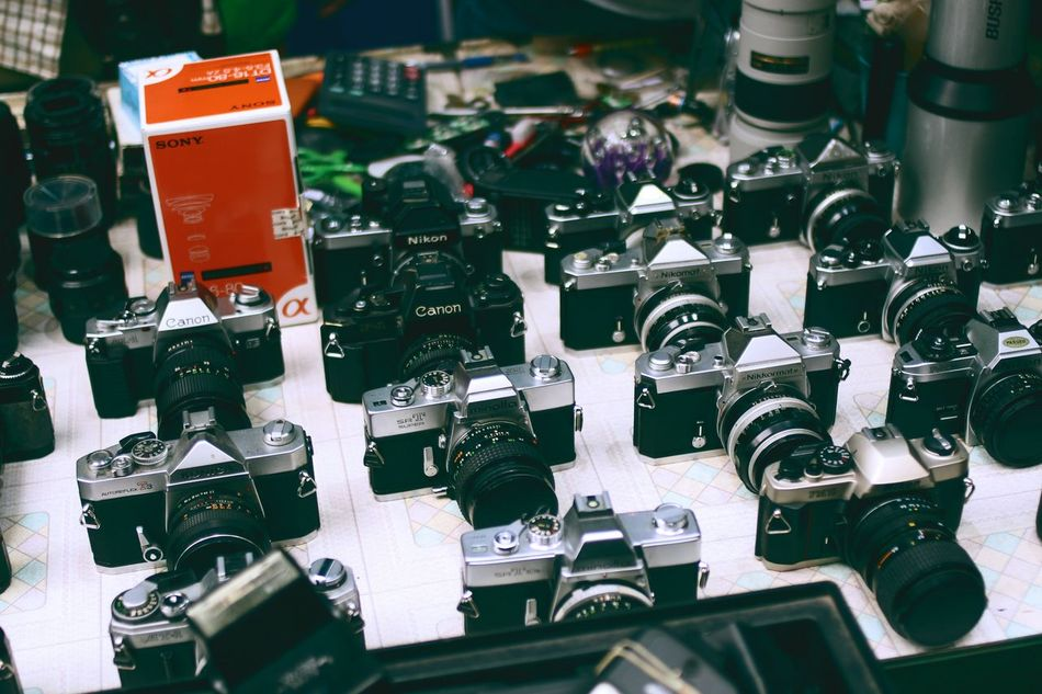 Beautiful stock photos of shopping, Arrangement, Camera - Photographic Equipment, Choice, Collection