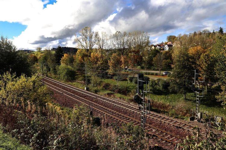 Herbst Autumn Autumn Colors Train Station