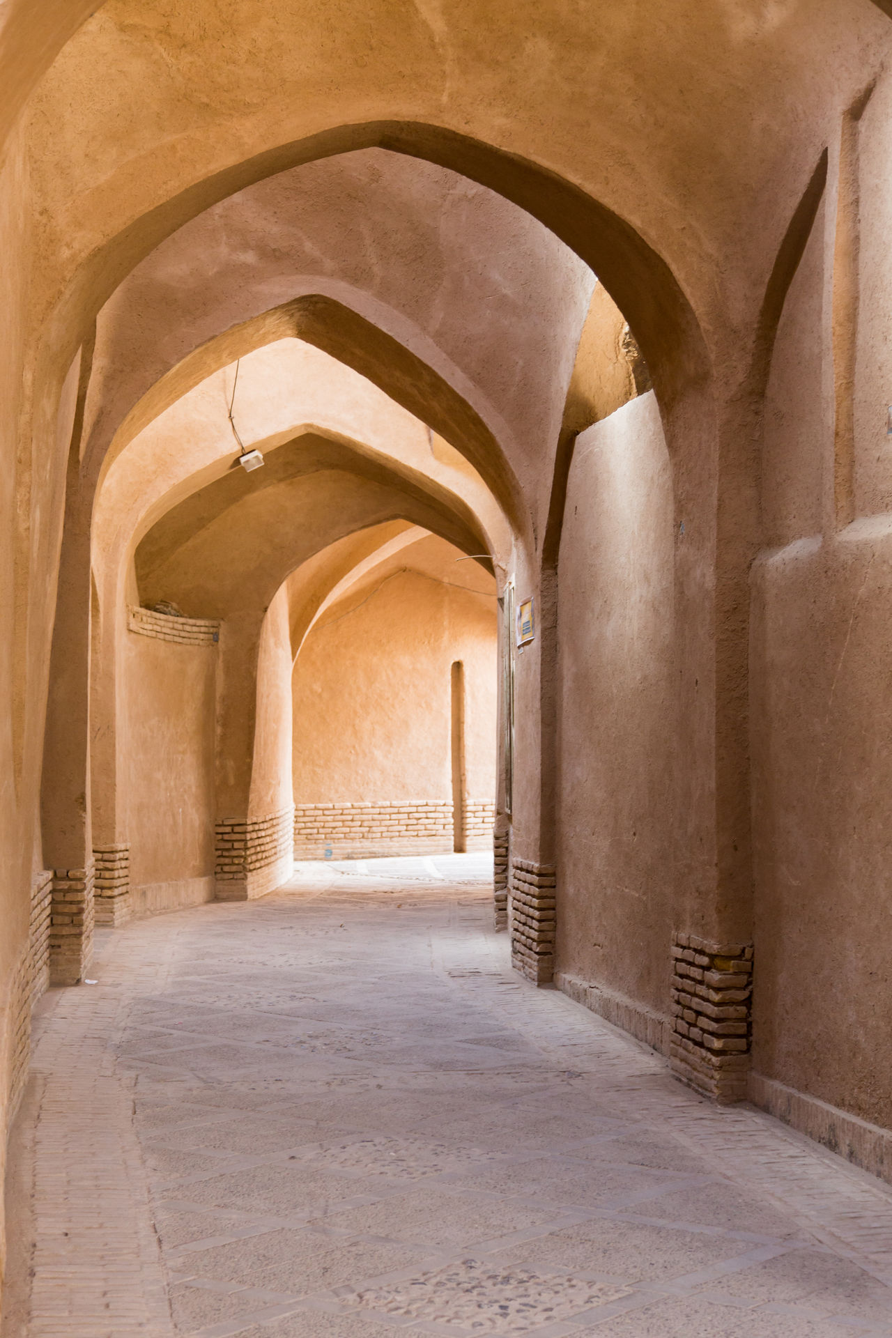 Arch Architectural Feature Corridor Empty Historic Iran Laneway Middle East Path Persia Travel Destinations Walkway