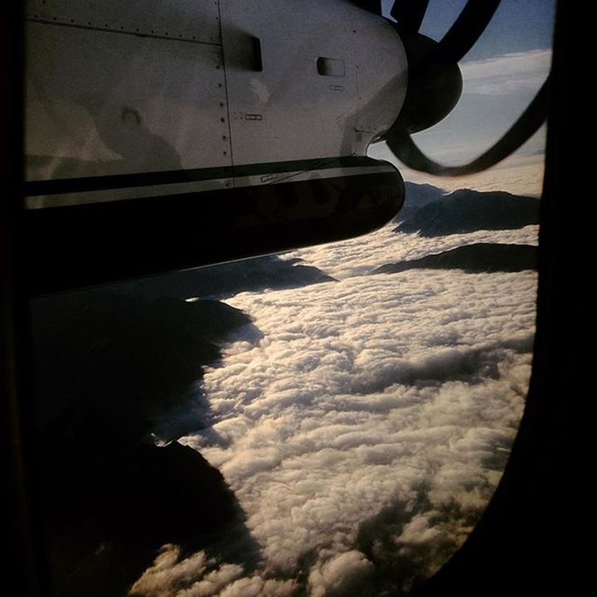 There is no such beauty like the one nature has Aerialphoto Airplane Bombardier Clouds Beautiful View
