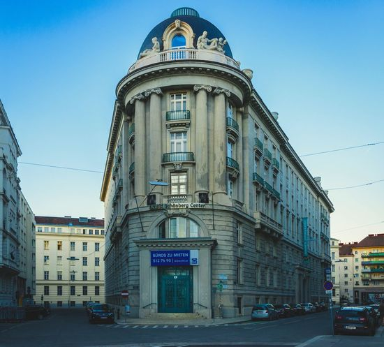 Pretty cool building! Architecture Clear Sky Street No People Built Structure Building Exterior Outdoors Blue Sky City City Life Urbanphotography Photography Vienna