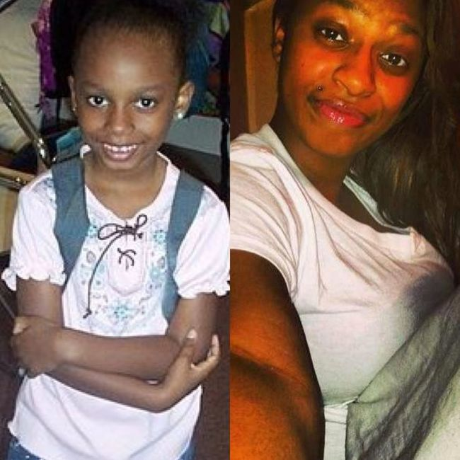 Then to Now. (The first pic was my first day in kindergarten