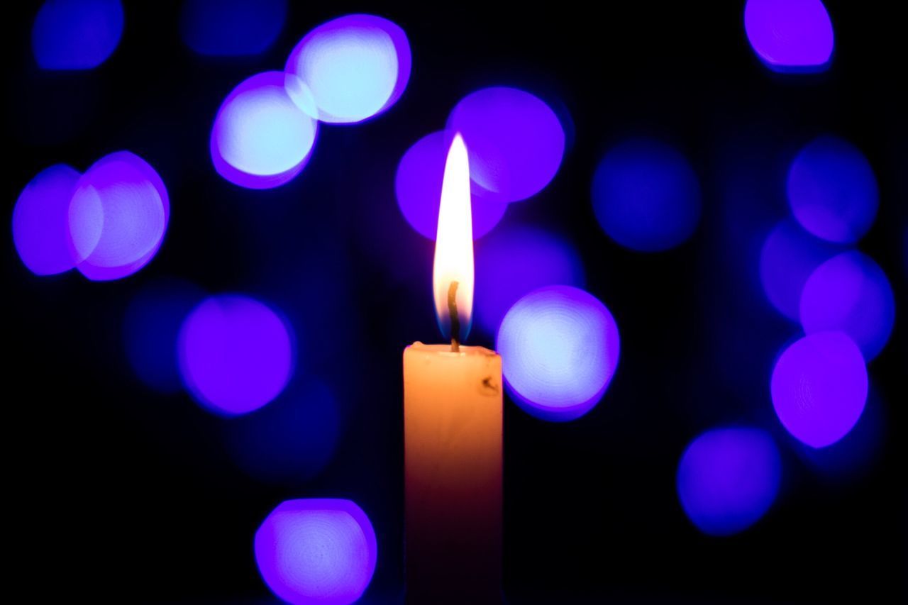 Flame Burning Candle Illuminated Lit No People Darkness And Light Bokeh Bokehlicious Candle Light Romantic