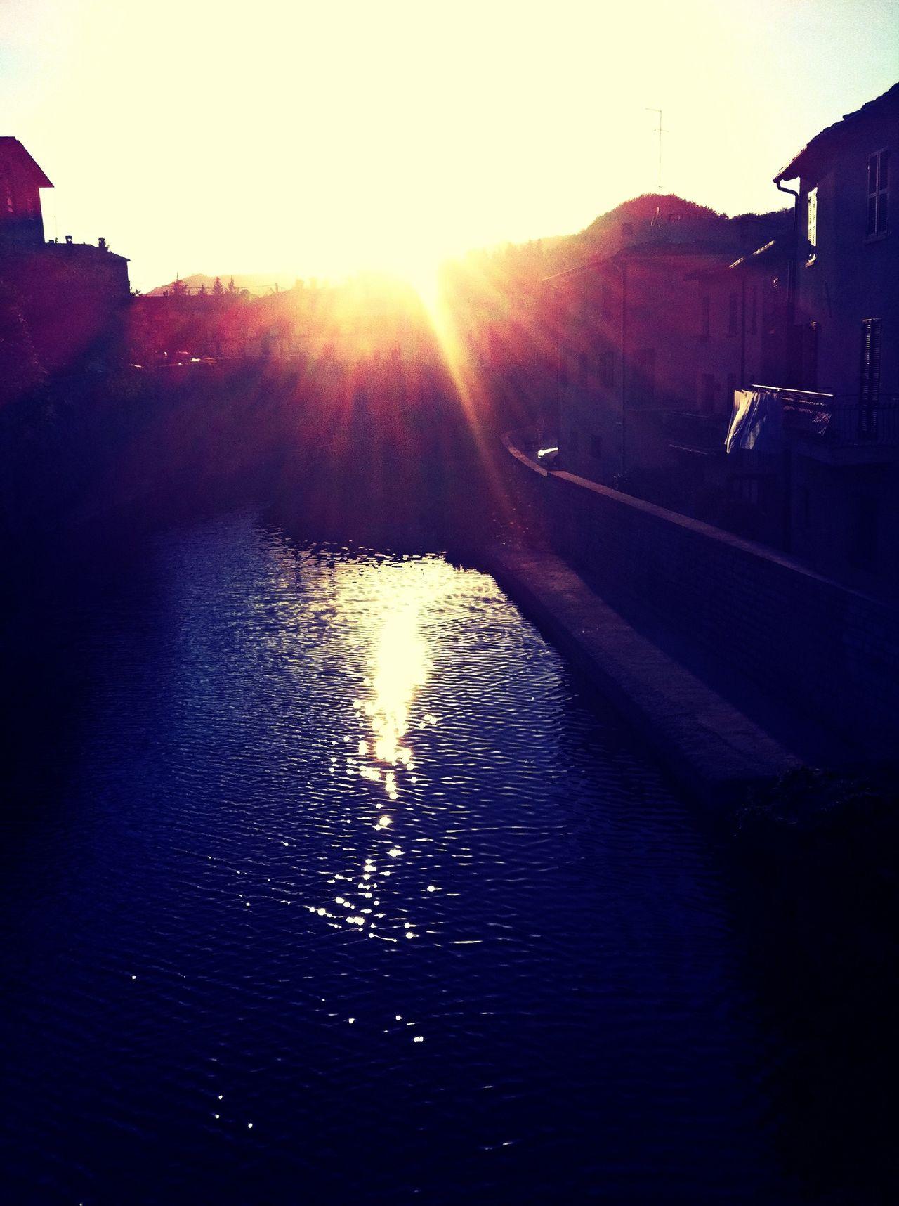 Sunset On Metauro River