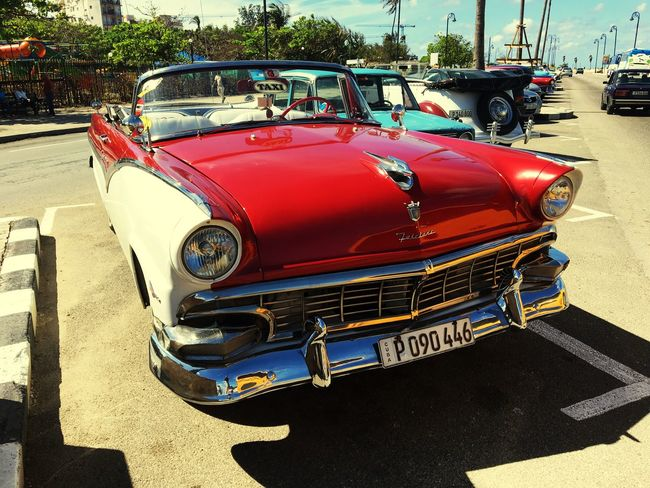 Cuba Old Cars ❤ Transportation Mode Of Transport Car Land Vehicle Vintage Car Day Stationary Red Outdoors