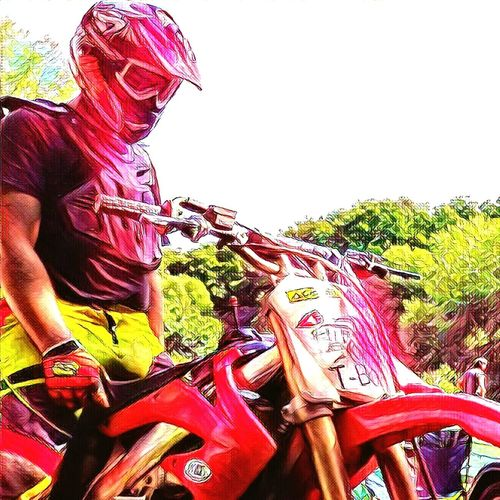 The motocross riders are like kights, coming from battle to a castle as a winner. :) Motocross Extreme Sports Adventure Clear Sky Outdoors Fun Riders Knights