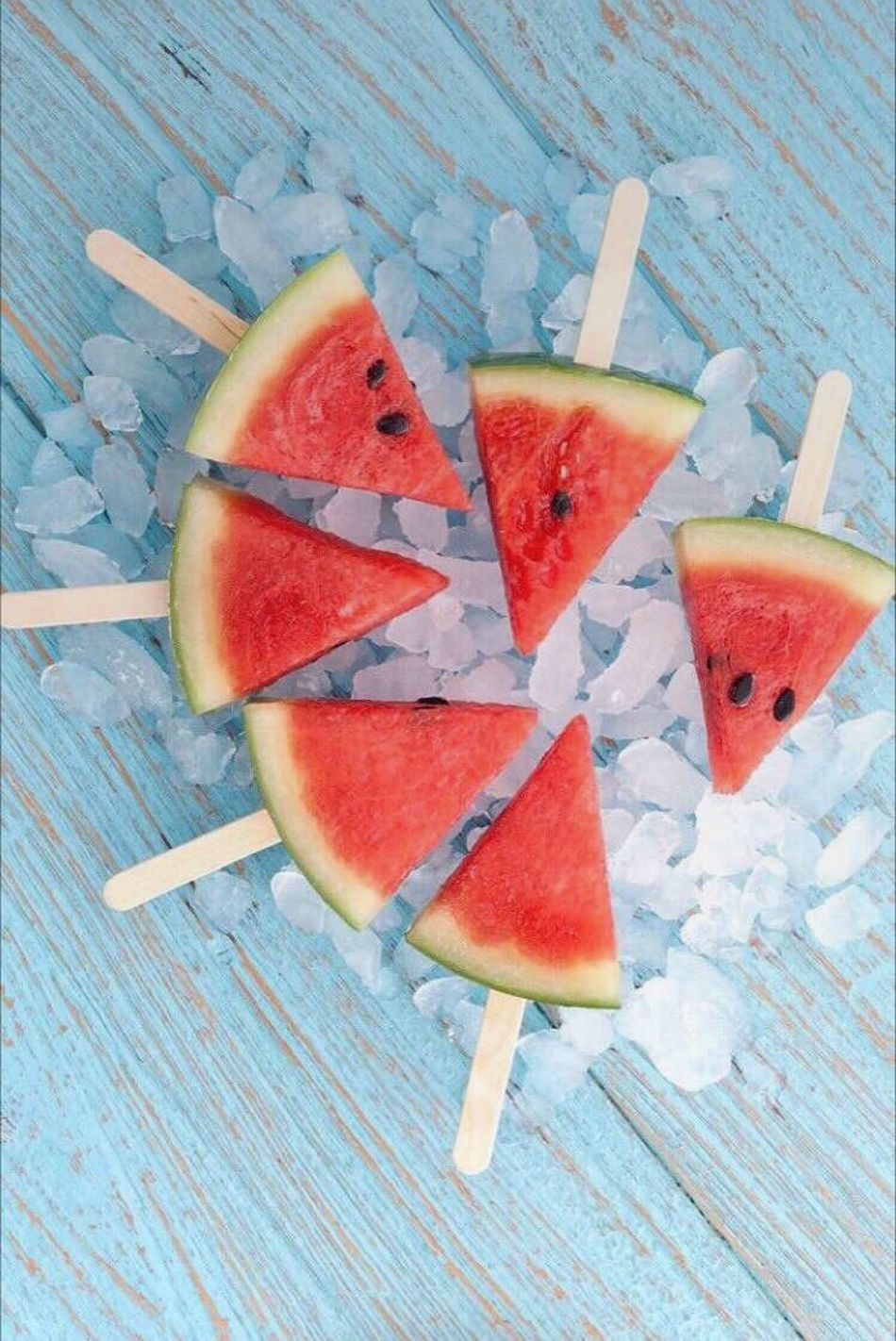 Frozen Food Flavored Ice Ice Cream Refreshment Food And Drink Fruit Cold Temperature Sweet Food Frozen Summer High Angle View Still Life Homemade Freshness No People SLICE Watermelon Drink Wood - Material Indoors