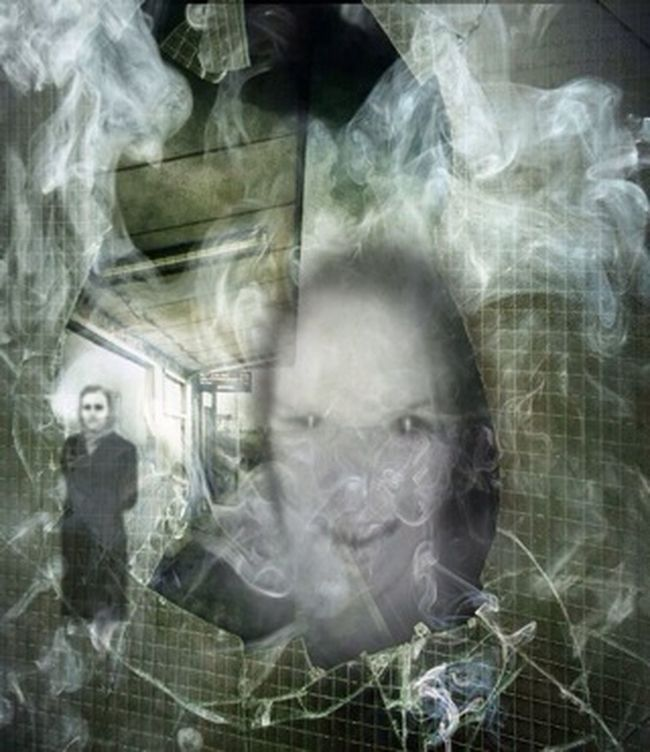 One way ticket to nowhere Seeing Ghosts Trainstation Creepy Face