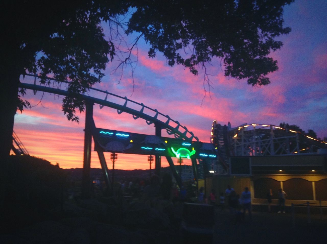 🎡🎢 Arts Culture And Entertainment Amusement Park Sunset Outdoors Cloud - Sky Nature Roller Coaster