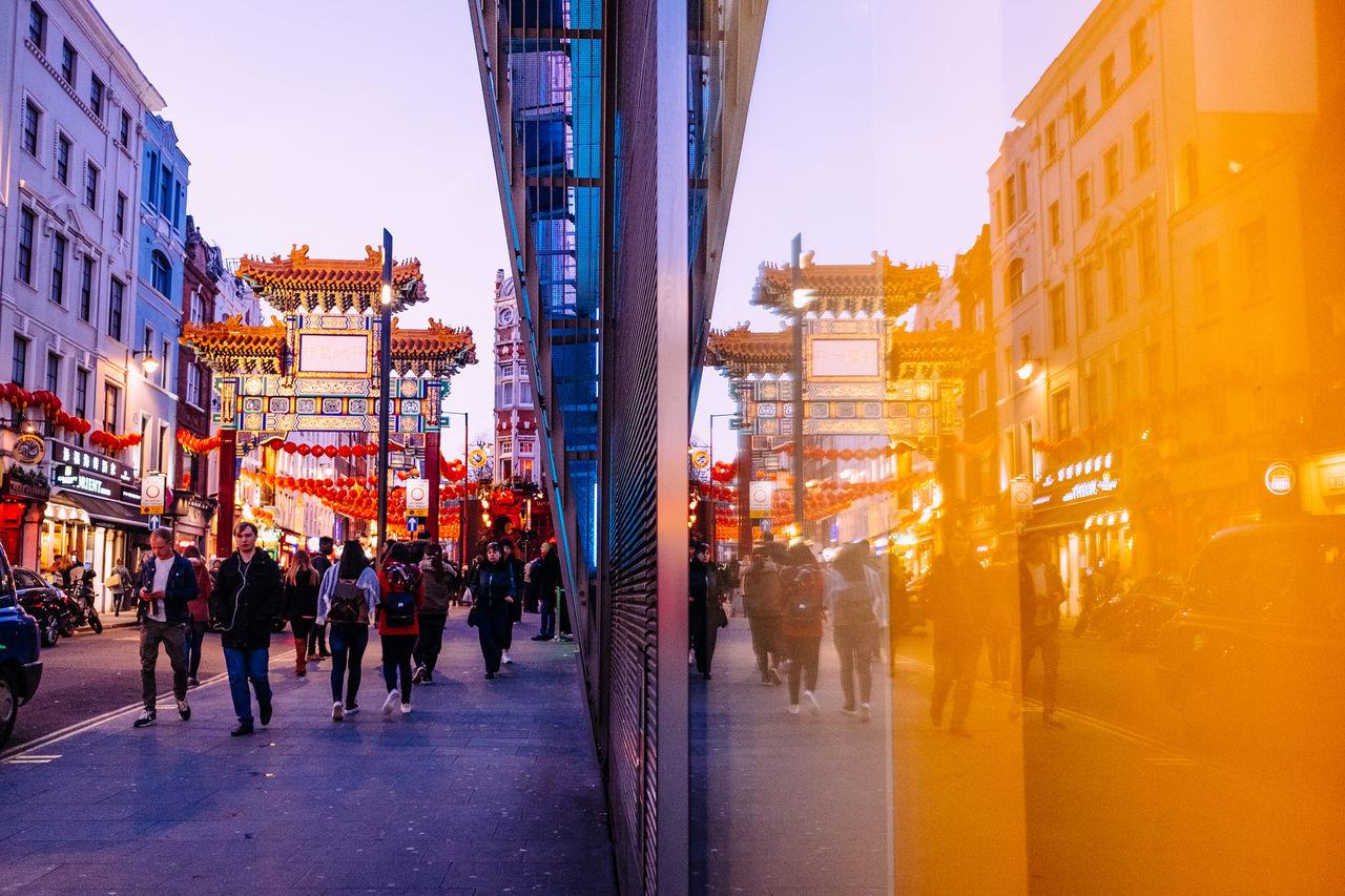 Chinatown Chinese New Year City City Street Evening Lanterns London Night Walking
