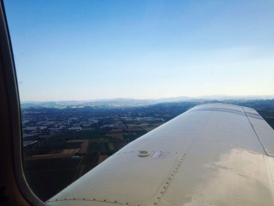 Sky Summer Flight Italy Enjoying Life