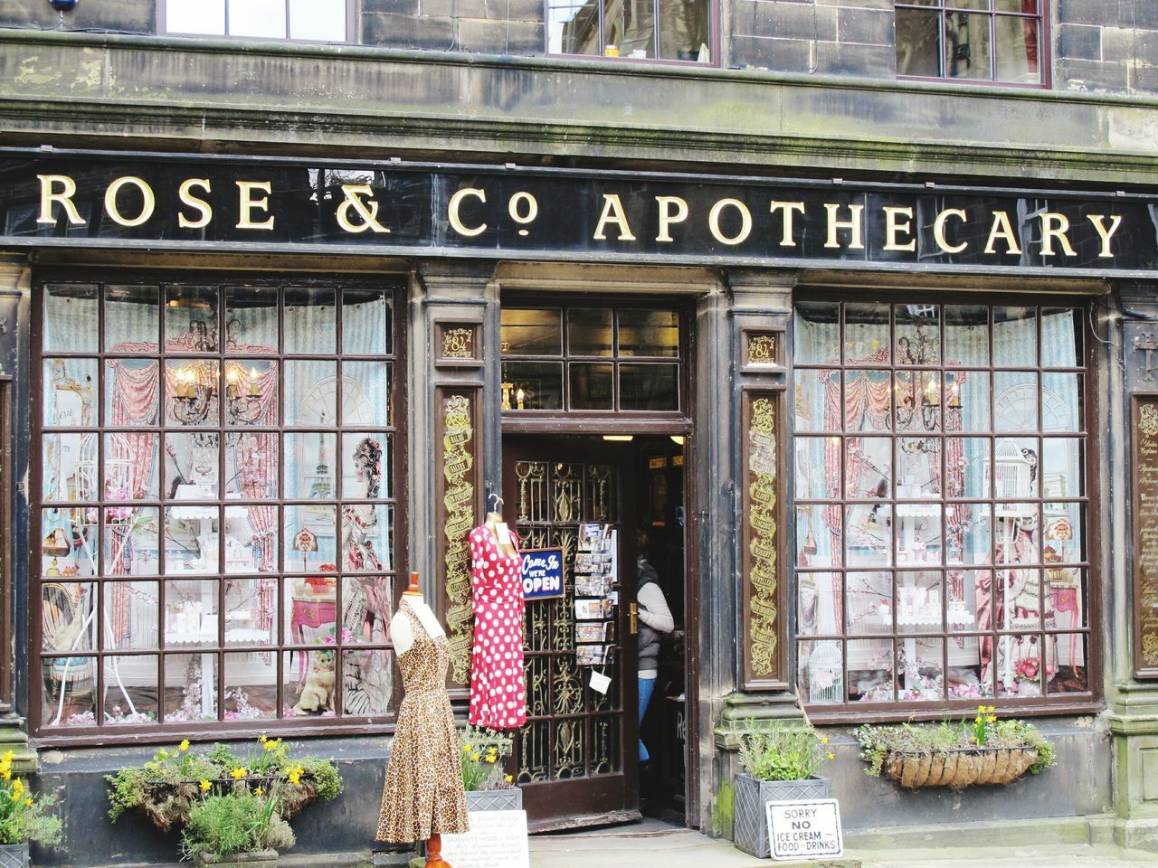 Beautiful shop. Haworth Rose & Co Shop Apothecary Victorian Vintage Vintage Signs Windows Bronte Sisters Tourist Attraction  Old England Quintessential English Scene England Antique Showcase April Shopping Time Architecture Old World Architecture Yorkshire Bronte West Yorkshire Day Out Landscape Street Photography Street