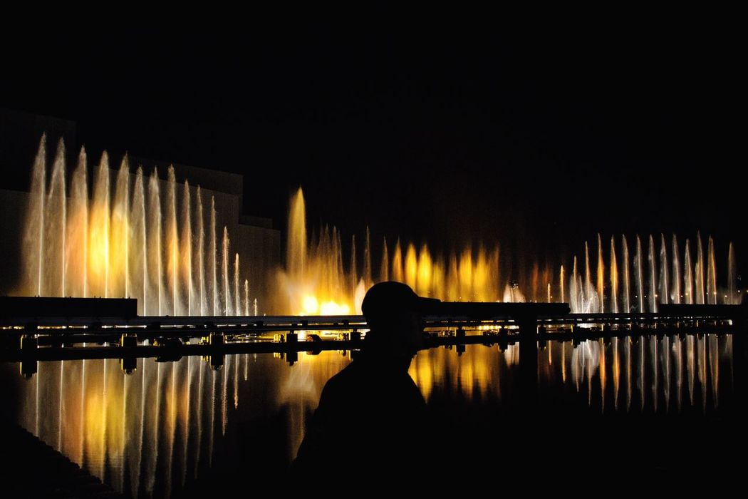 Light Festival: Day 2 Illuminated Night Silhouette Standing Reflection Water Lifestyles Glowing Nightlife Outdoors Performance Weekend Activities Multi Colored Fountain Fountains Fountain_collection Light Festival Darkness And Light Water_collection Water Reflections Reflection Event Entertainment Night Photography Nightphotography