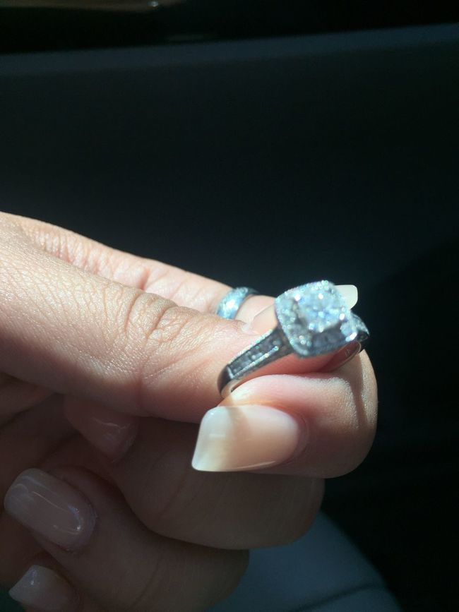 Holding Close-up Human Finger Personal Perspective Fingernail Ring Engagement Hand Kayjeweler