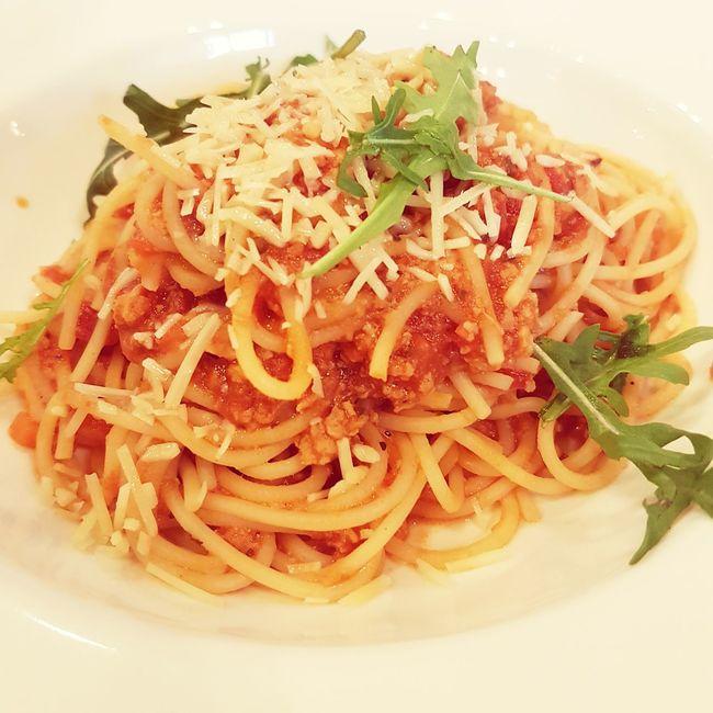Lunch. Spaghetti Bolognese Spaghetti Bolognaise