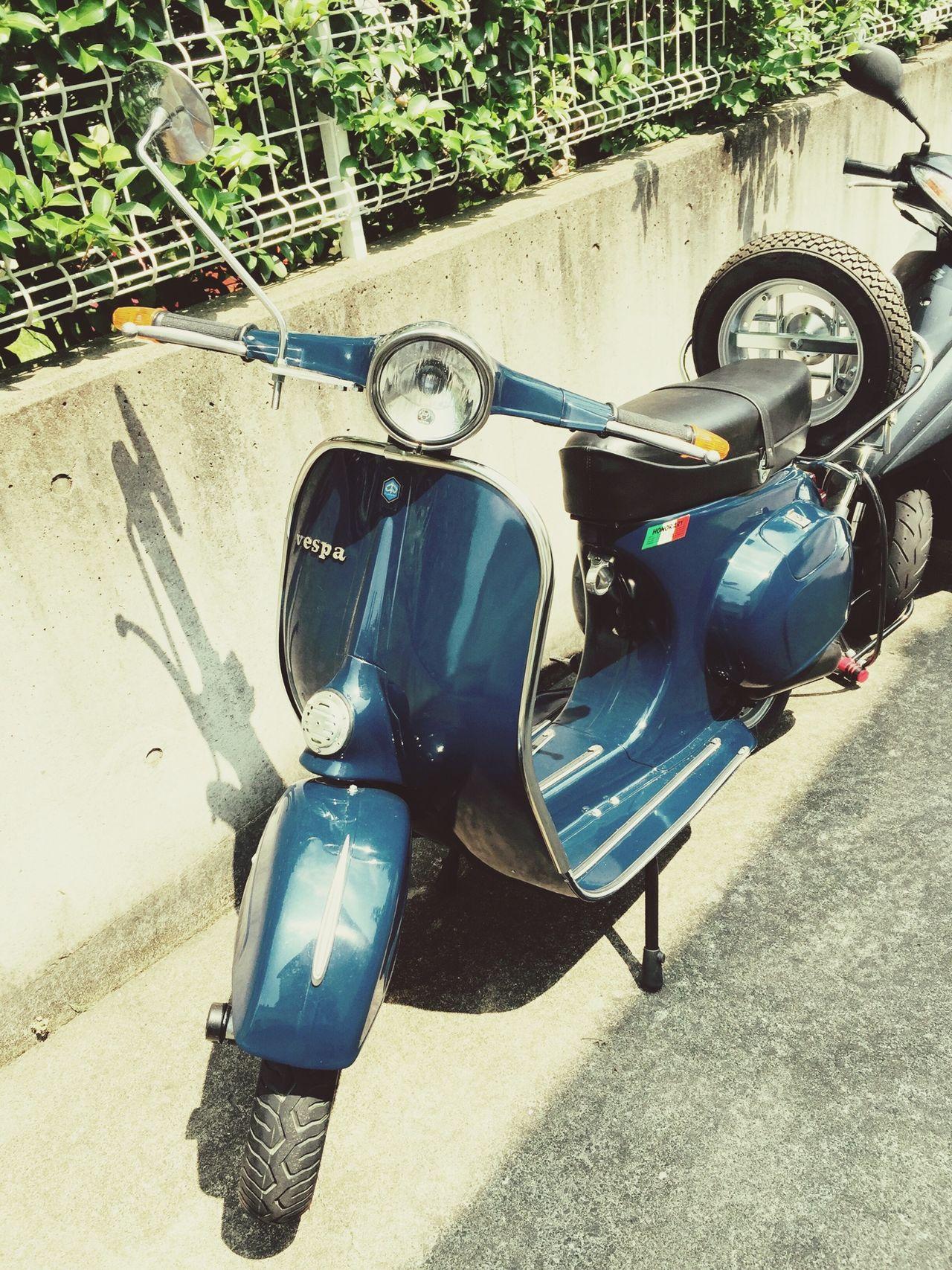 Vespa バイク Bike Blue