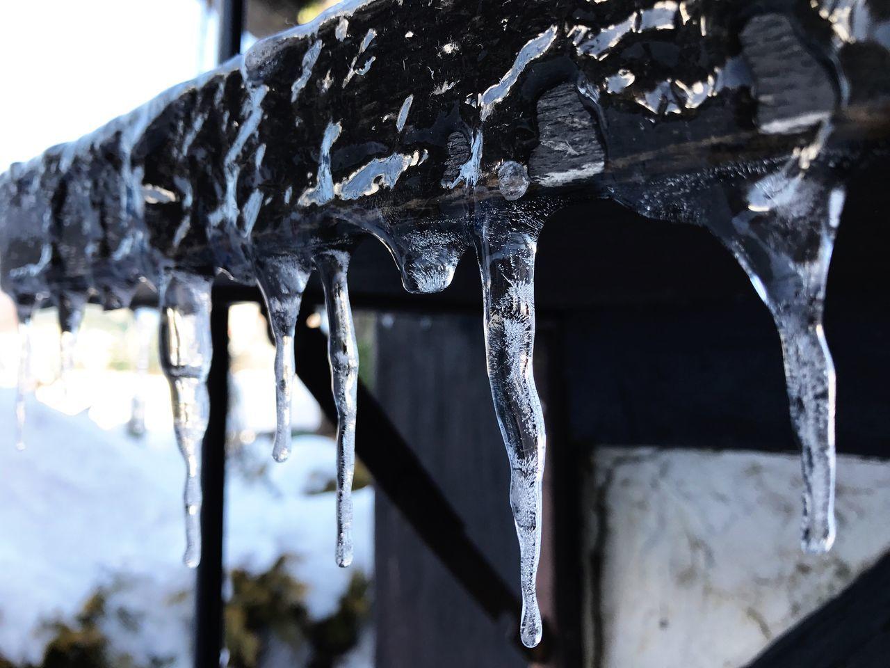 Icicles Snow Winter