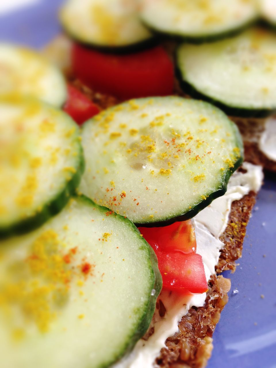 food and drink, food, ready-to-eat, vegetable, healthy eating, tomato, freshness, cucumber, indoors, plate, slice, salad, sandwich, serving size, meal, close-up, bread, no people, appetizer, gourmet, snack, day