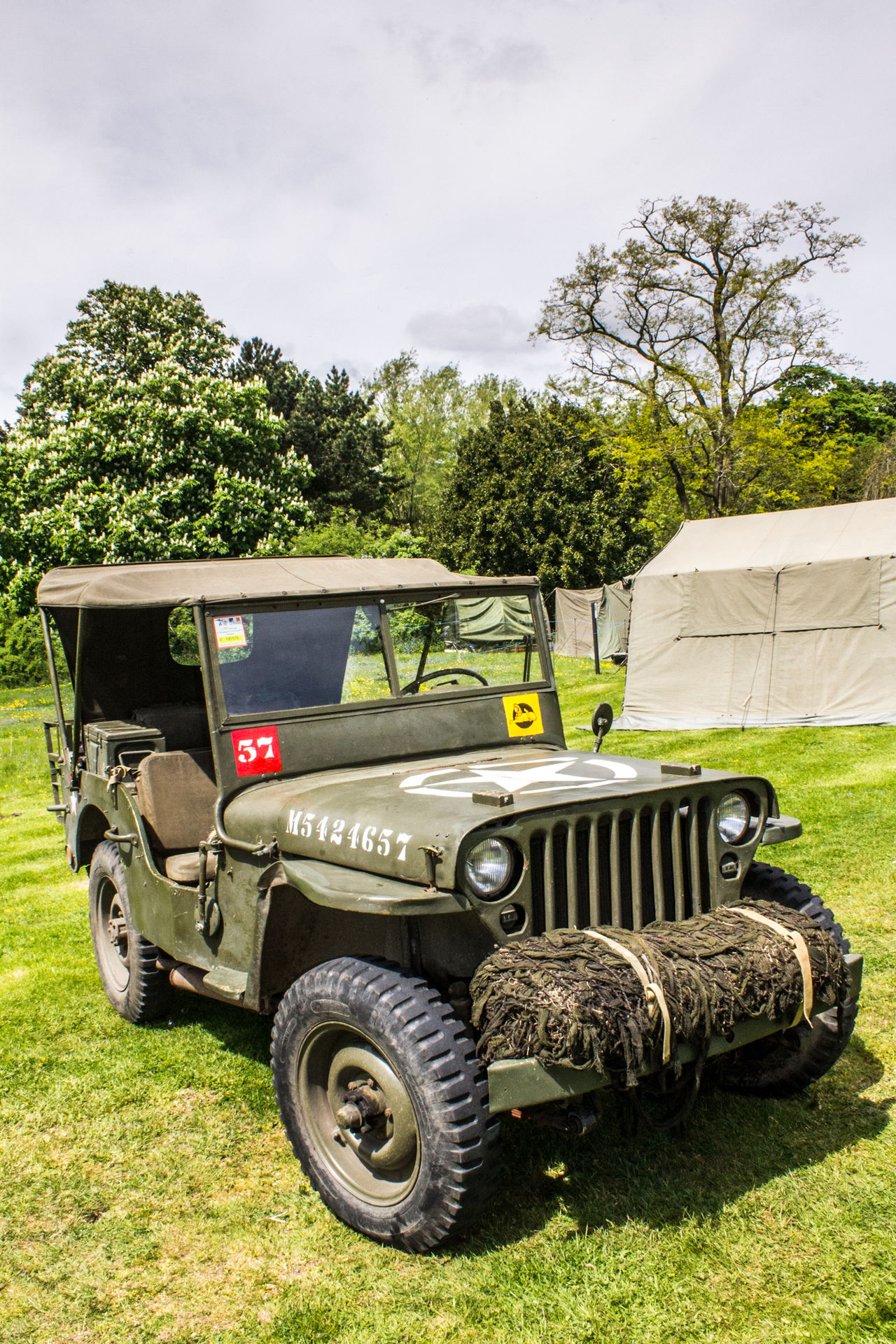 Transportation Tree Land Vehicle Outdoors Day No People Grass Sky Old-fashioned Cressing Temple Temple At War Defence Army War Military Transportation Army Vehicles Jeep Armoured Vehicles Netting