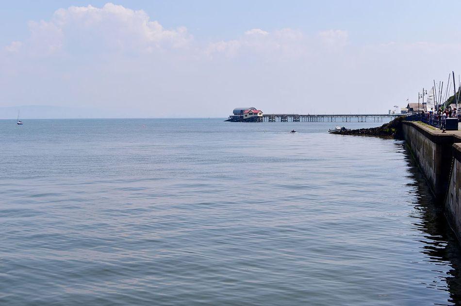 Taking Photos Coastline Landscape Sunny Day Slipway. Pier Nikon D5500