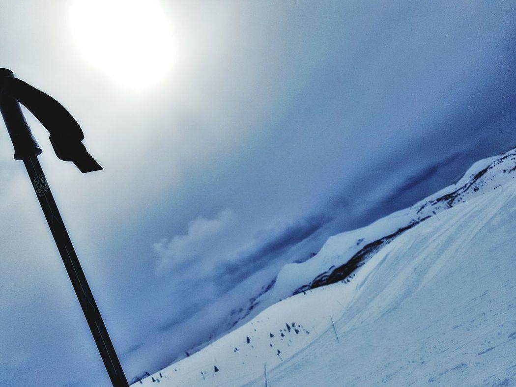 Skiing Mountain Snow Sunshine Ski Resort Ski Pole Sun