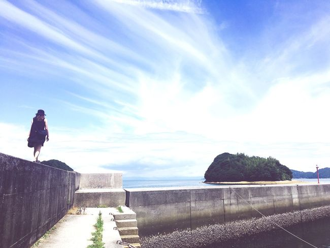 Healthy Summer Sky Skyblue IMography Ocean Sea Memories Girls Girl Power TheDay White Colors View Blight Natural Beauty