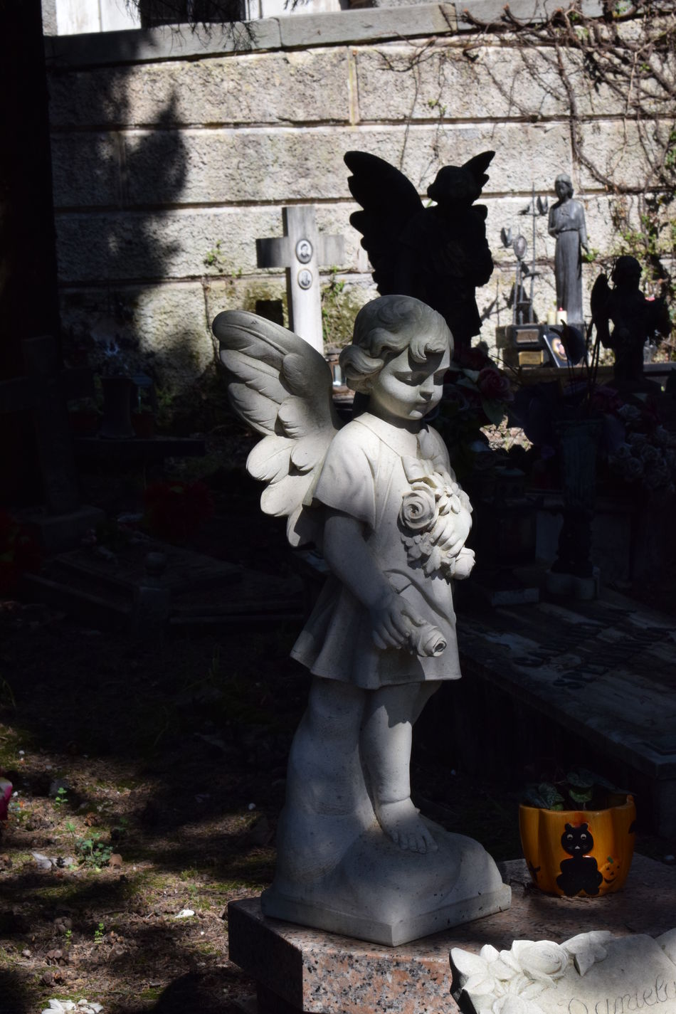 Monumental cemetery of Staglieno Angel Statue Cemetery Cemetery Art  Cemetery Photography Cemetery_shots Cemeterybeauty Grave Graveyard Graveyard Beauty Graveyard Collection Graveyardphotography Light And Shadow Statue