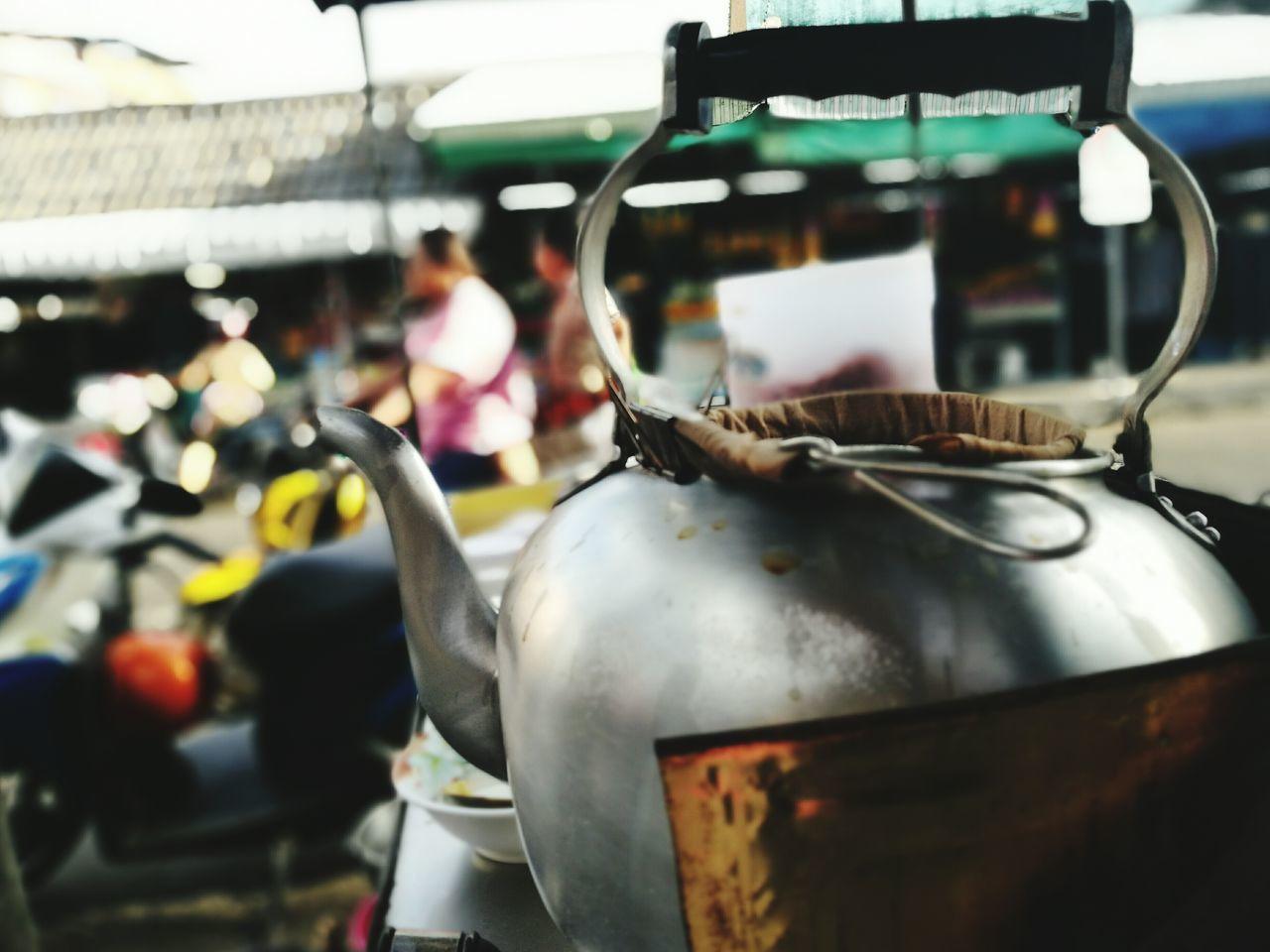 Ginger tea Close-up Outdoors Tea Pot