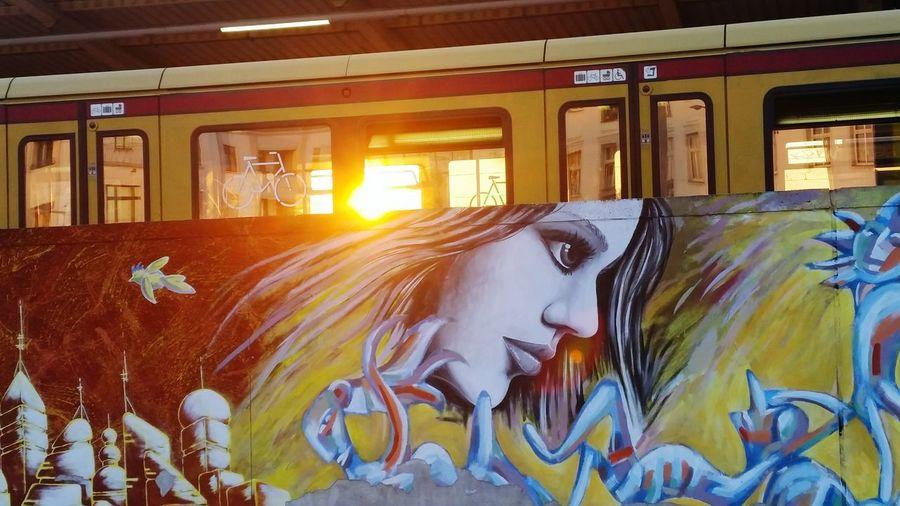 Sunset in Berlin. Public Transportation Myfuckingberlin Sunset Sunset_collection