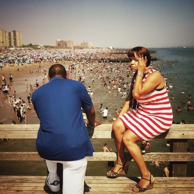 Eye Contact at Coney Island by Anton Kawasaki