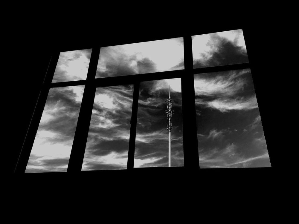 Sky And Clouds Window View Sights & Views  Blackandwhite Black & White Senset View Clouds & Sky