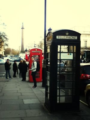 Telephone Box in City of London by yoshsay