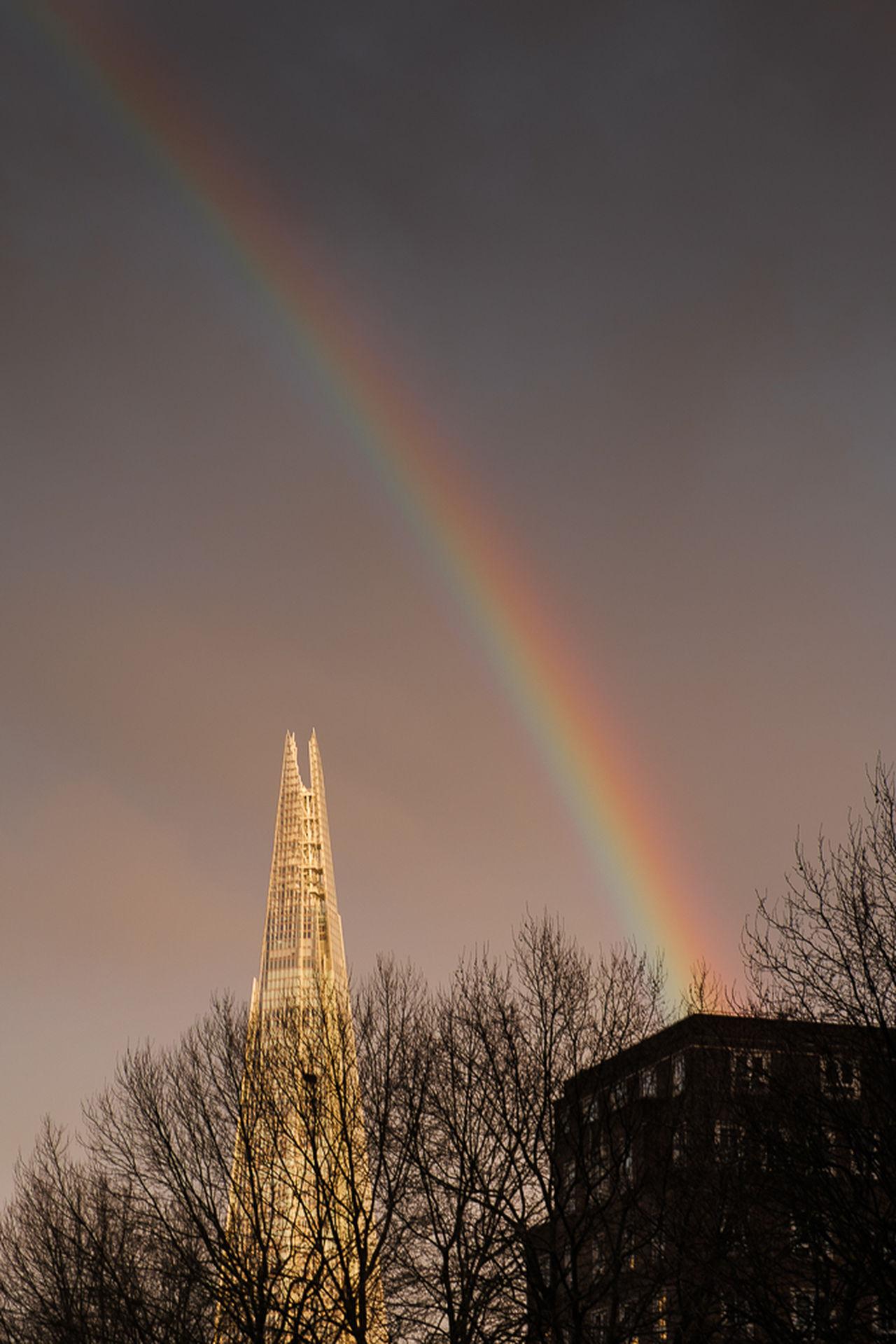 Rainbow over the Shard Beauty In Nature Nature Outdoors Rainbow Shard Sky Street Tranquility Tree Treetop