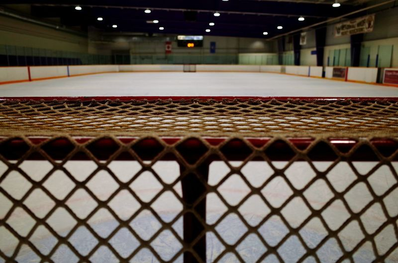 open ice rink Sport Stadium Ice Hockey Red Indoors  No People Match - Sport Day Ice Rink Architecture Hockey