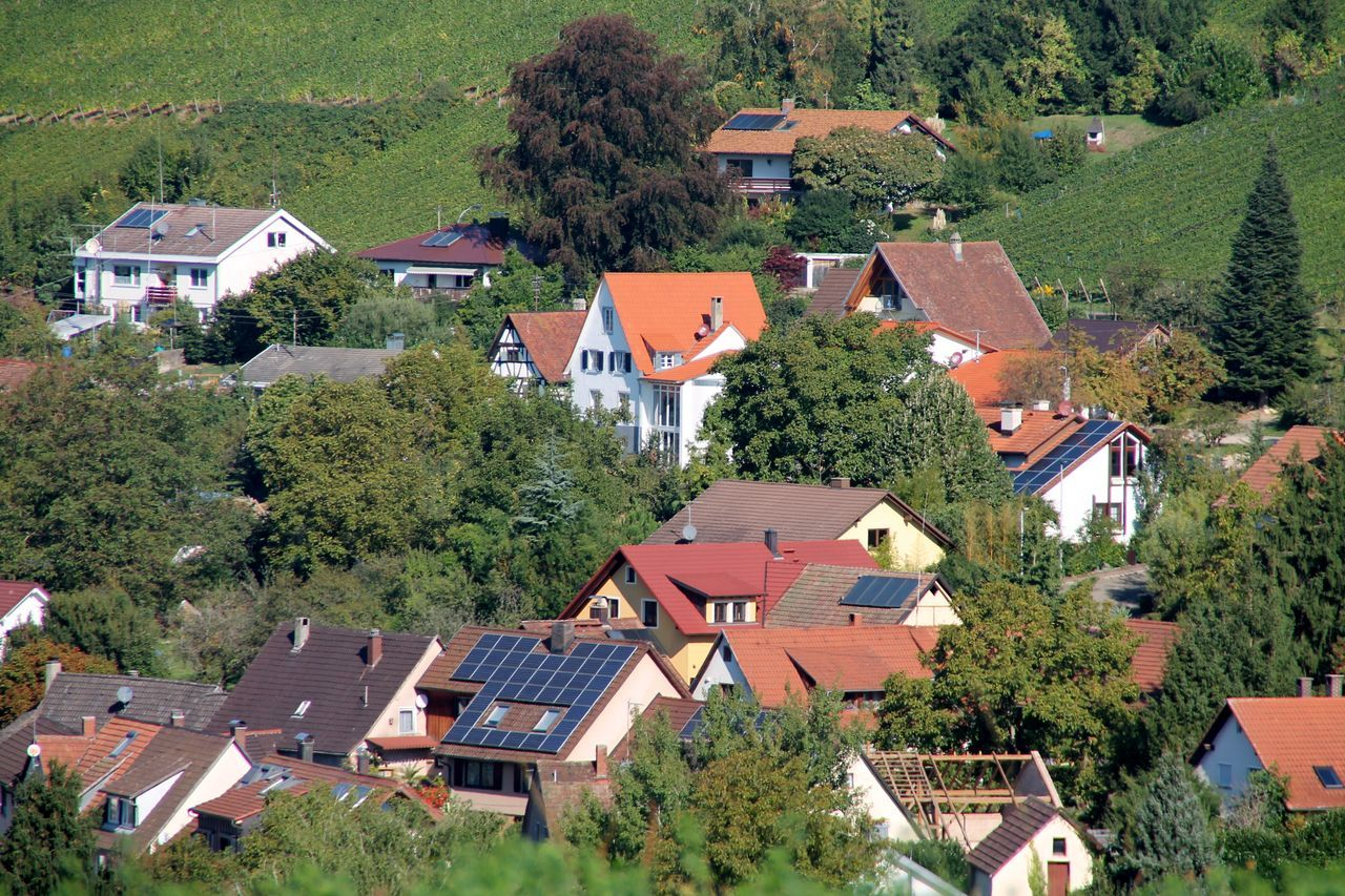 Building Exterior Architecture Roof House High Angle View Built Structure No People Residential Building Tree Outdoors Day Alternative Energy Femalephotographer Schwarzwald Black Forest Germany Travel Destinations Architecture Müllheim Houses