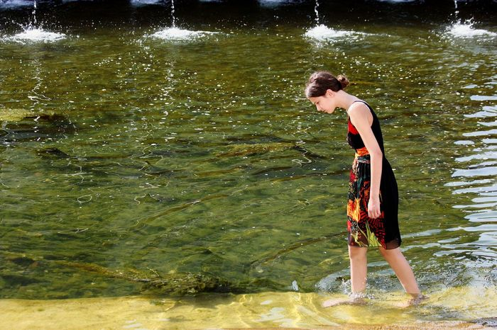 Breathing Space Water Full Length One Person People Standing Outdoors Girl Only Young Women Nature Day