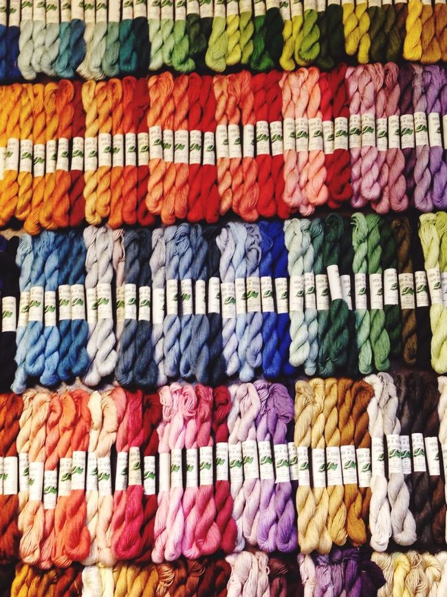 Reel Embroidery Rainbow Colors Rainbow Thread Couture Mercerie Endlessness