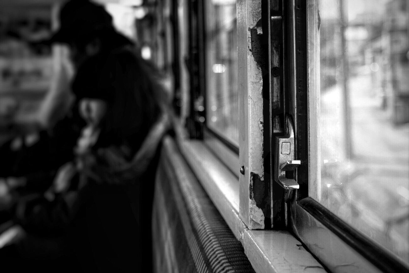 Train On The Train Window Window View Nostalgia Nostalgic Landscape Japan Photography Close-up Quiet Moments EyeEm Gallery Eye4photography  From My Point Of View Monochrome Blackandwhite Light And Shadow Minimalism Getting Inspired Cityscapes light and reflection にわか鉄子 Snap A Stranger